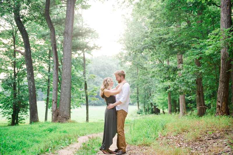 Romantic Maryland Mountain Engagement by Britney Clause