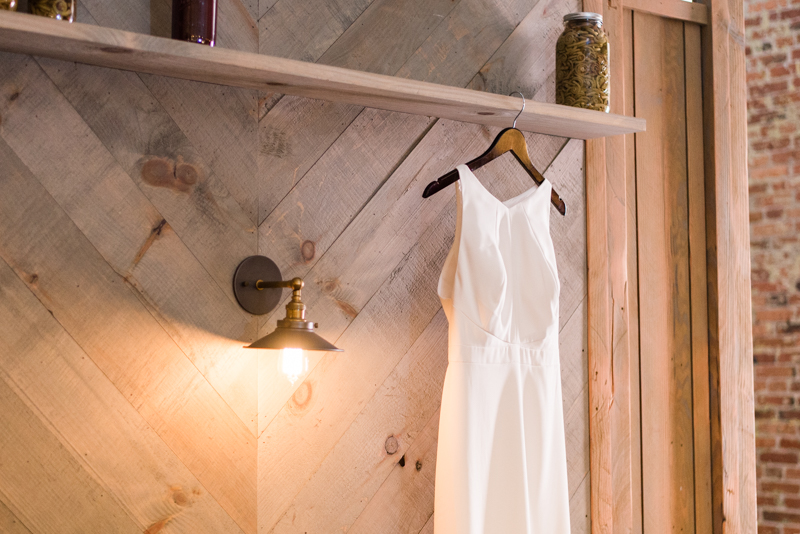 Wedding dress from Bella Bridesmaids at La Cuchara Baltimore styled shoot