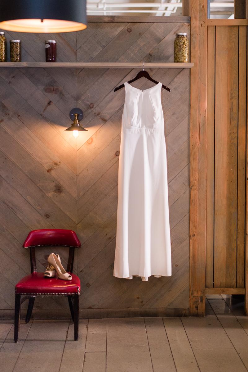 Wedding dress from Bella Bridesmaids at La Cuchara Baltimore styled shoot