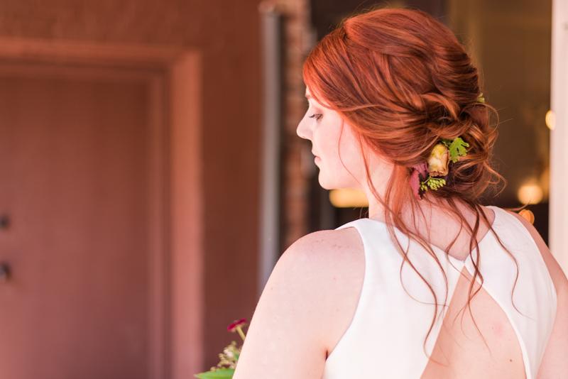 Wedding make up by Caitlyn Meyer at La Cuchara Baltimore styled shoot