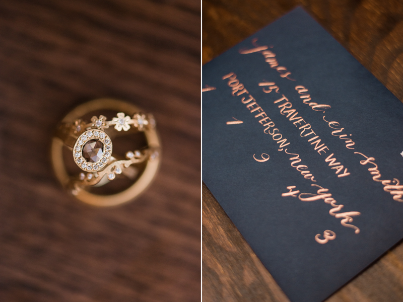 Wedding rings from St Johns Jewelers at La Cuchara Baltimore styled shoot