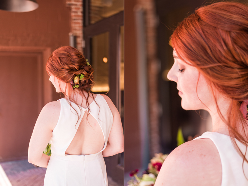 Wedding make up by Caitlyn Meyer at La Cuchara Baltimore styled shoot