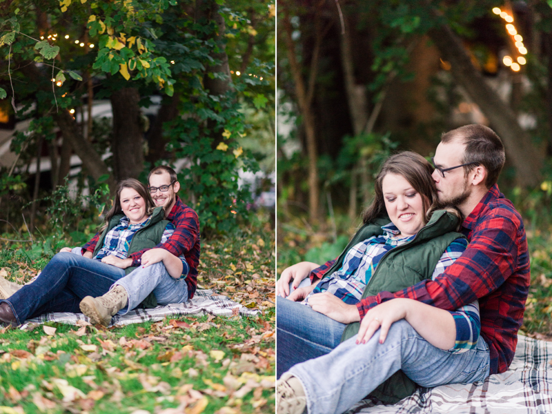 Fall engagement session in Granite Hill Camping Resort
