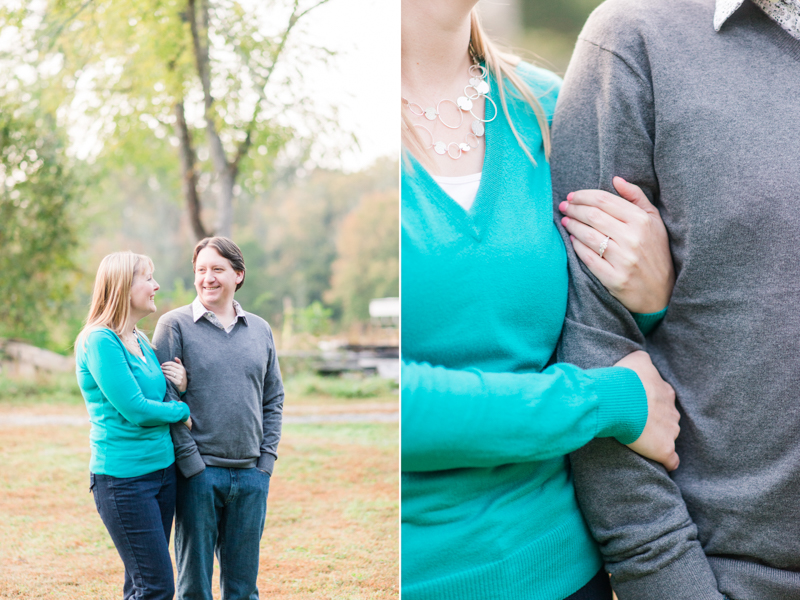 Jerusalem Mill field engagement session in maryland