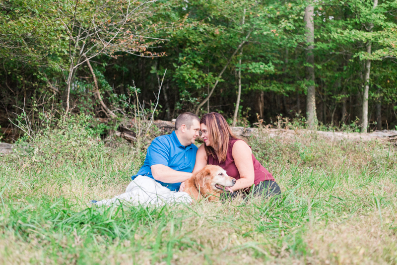 Middle Patuxent Environmental Area Engagement Session with Dog