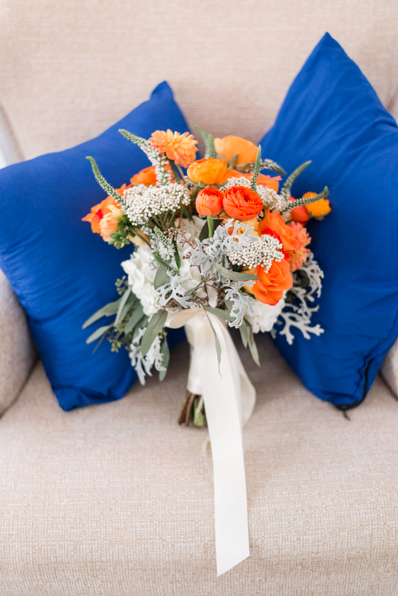patapsco female institute ellicott city fall wedding bouquet