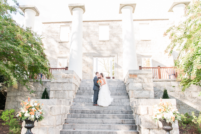 patapsco female institute ellicott city fall wedding first look