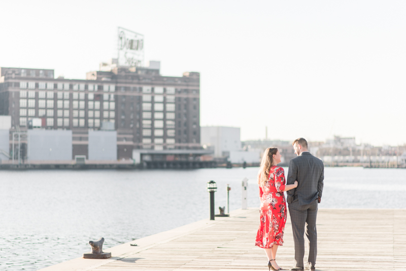 Engagement session timing maryland baltimore fells point