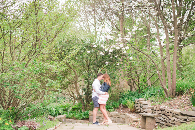 Engagement session timing maryland brookside gardens