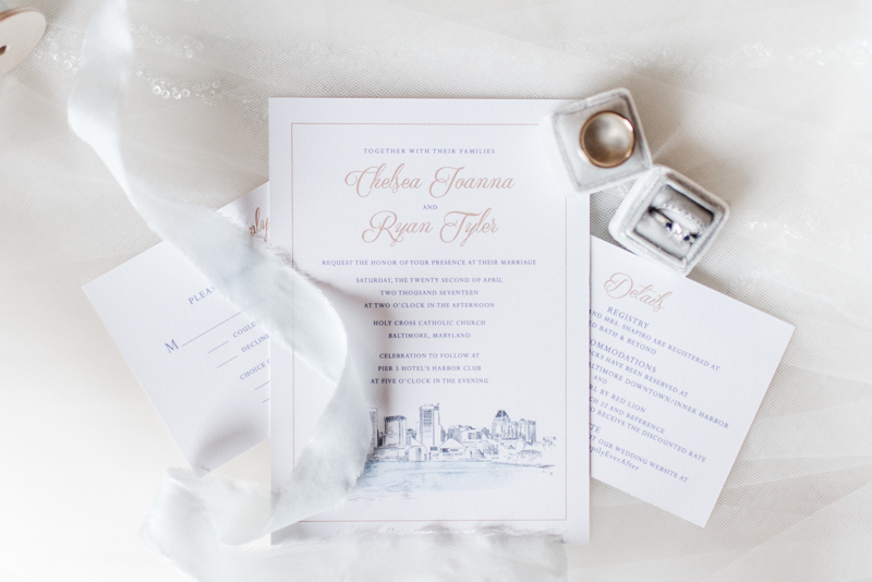 pier 5 hotel wedding baltimore maryland photographer invitation inspiration