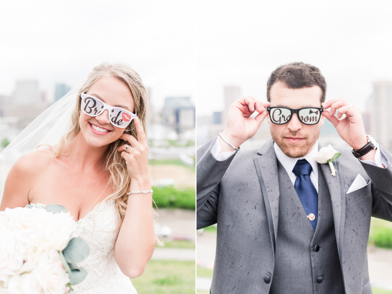 pier 5 hotel wedding baltimore maryland photographer federal hill bride groom sunglasses