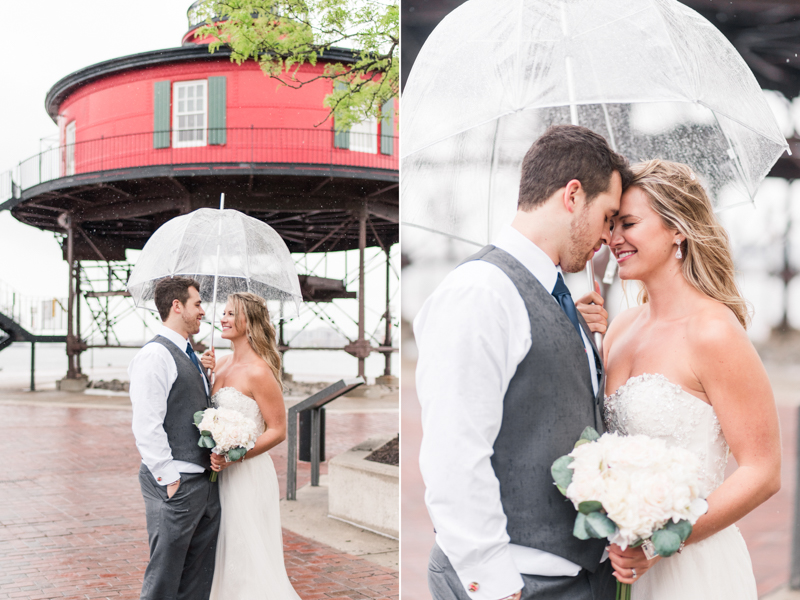 pier 5 hotel wedding baltimore maryland photographer seven foot knoll lighthouse