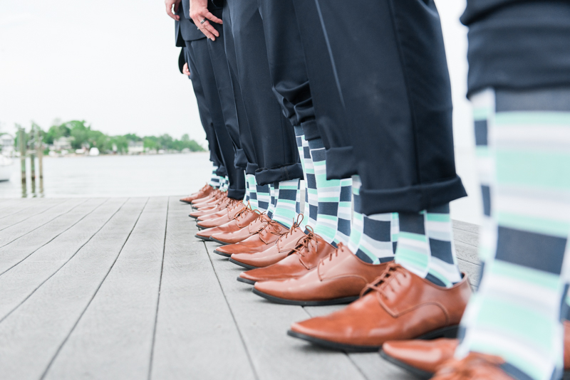 wedding photographers in maryland anchor inn pasadena groomsmen socks