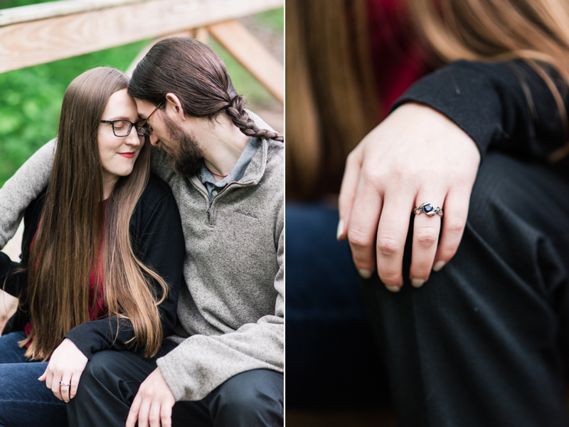 wedding photographers in maryland poolesville the peace park engagement session ring