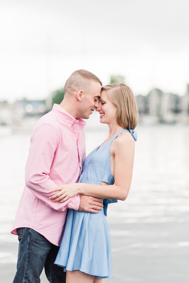 Wedding Photographers in Maryland Downtown Annapolis Engagement Session Sunrise Pastel Waterfront