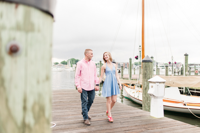 Wedding Photographers in Maryland Downtown Annapolis Engagement Session Sunrise Pastel Waterfront Ego Alley