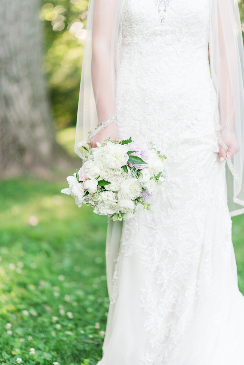 Wedding Photographers in Maryland Liriodendron Mansion Bel Air bride and groom blush floral design