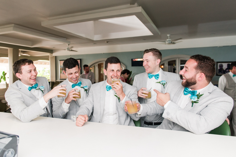 destination wedding photographers in maryland montego bay jamaica groomsmen bar
