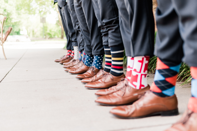 wedding photographers in maryland mt. washington mill dye house baltimore groomsmen socks