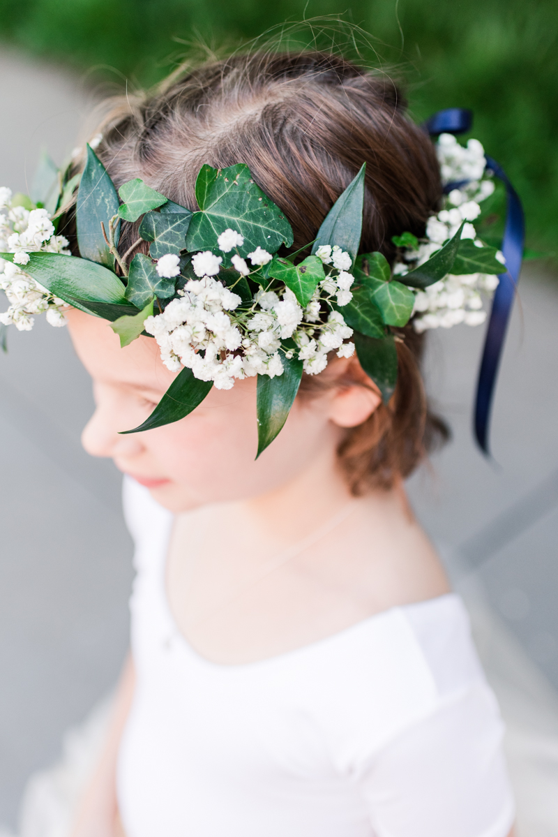 wedding photographers in maryland mt. washington mill dye house baltimore floral studio flower crown