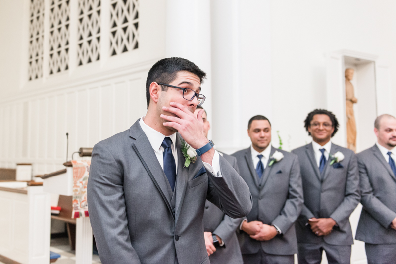wedding photographers in maryland groom reactions baltimore annapolis dc