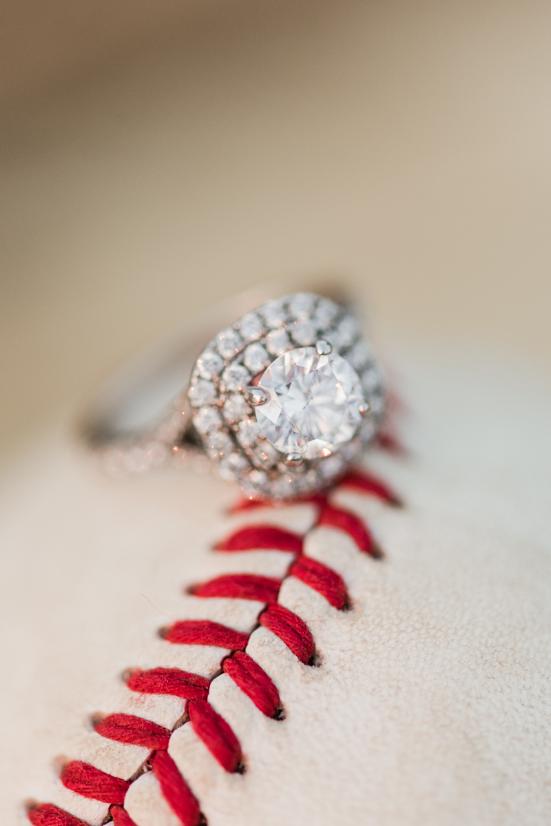 wedding photographers in maryland foxhill park engagement session bowie ring baseball