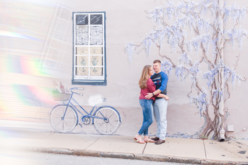 wedding photographers in maryland naval academy engagement downtown annapolis wisteria wall