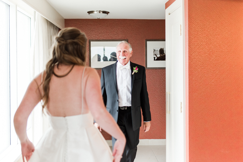 wedding photographers in maryland marriott waterfront hotel baltimore mt washington mill dye house daddy daughter first look