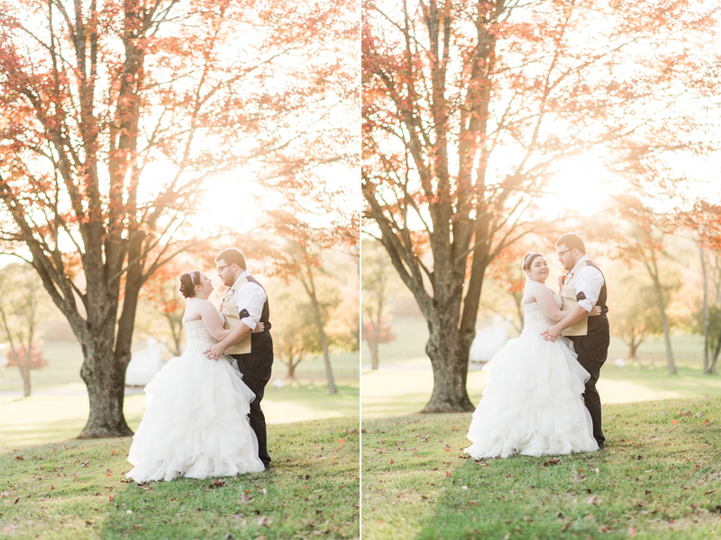 Wedding Photographers in Maryland Caboose Farm Frederick Sunset
