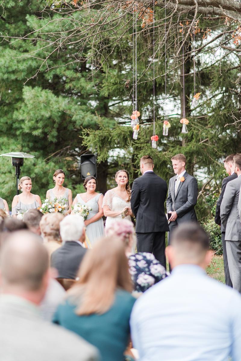 Wedding Photographers in Maryland Mount Airy Backyard October
