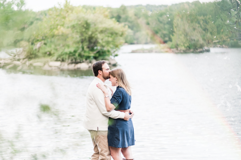 Wedding Photographers in Maryland Susquehanna State Park Engagement Session Sunset rainbow