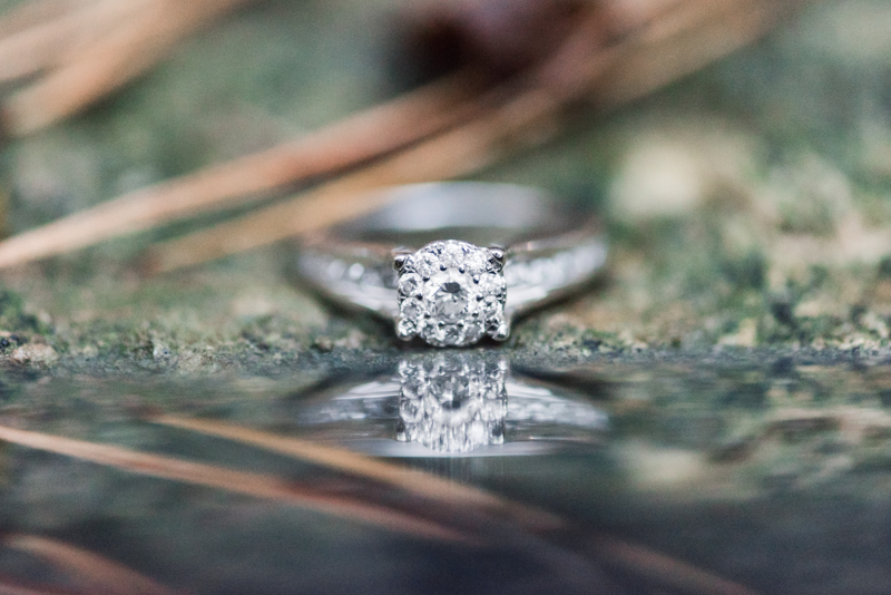 Wedding Photographers in Maryland Loch Raven Reservoir Engagement Session Ring