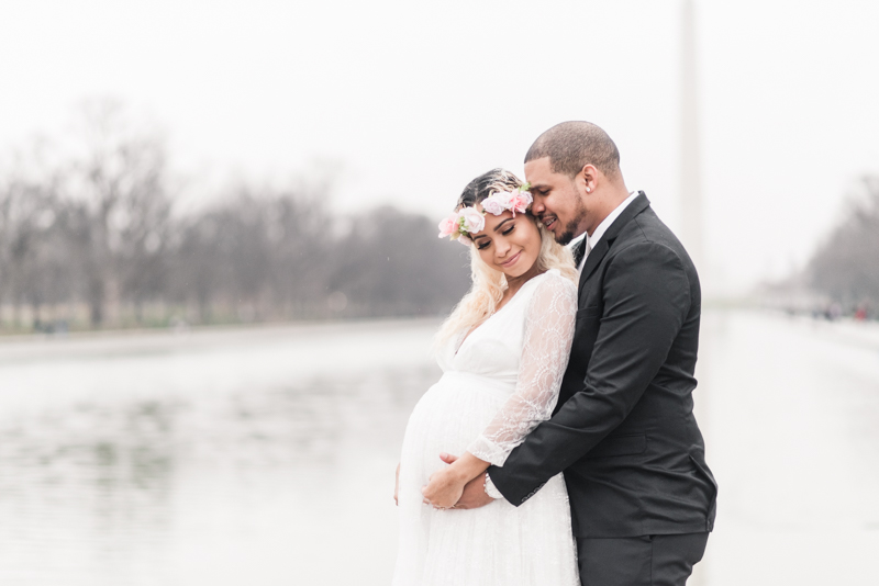 Wedding Photographers in Maryland Washington DC Maternity Session Lincoln Memorial