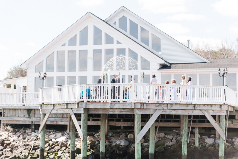 Wedding Photographers in Maryland Celebrations at the Bay Spring Bride and Groom