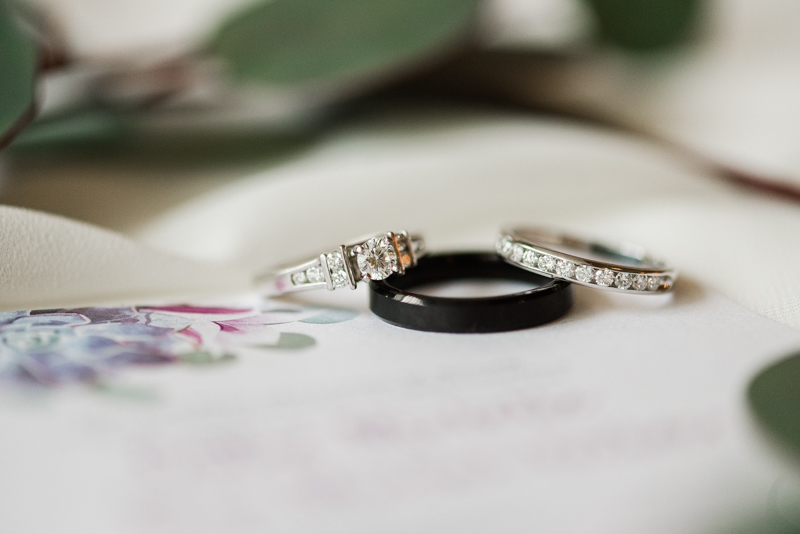 wedding photographers in Maryland Country Club of Maryland Rings