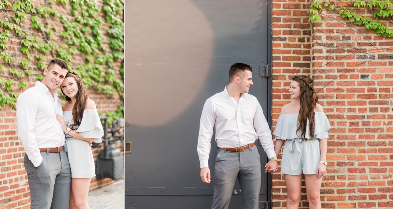 Wedding Photographers in Maryland Baltimore Engagement Federal Hill Visionary Art Museum