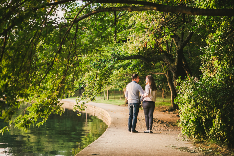Maryland Wedding Photographers Washington DC Sunrise Engagement Session Tidal Basin