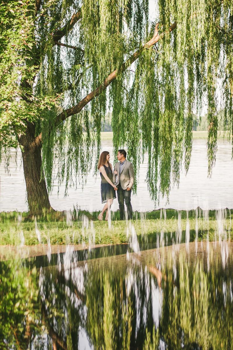 Maryland Wedding Photographers Washington DC Sunrise Engagement Session Tidal Basin Prism