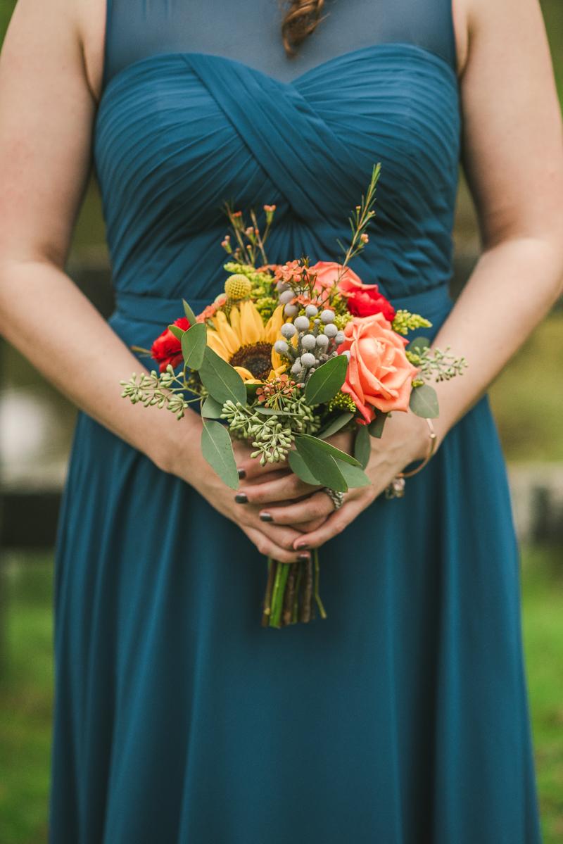Chanteclaire Farm Wedding Photographer Friendsville Maryland Bridal Bouquet Farmhouse Fete