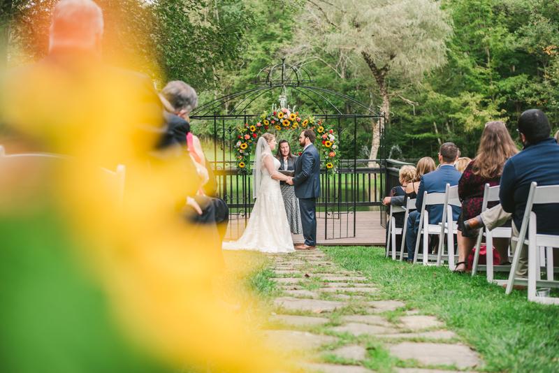 Chanteclaire Farm Wedding Photographer Friendsville Maryland Ceremony