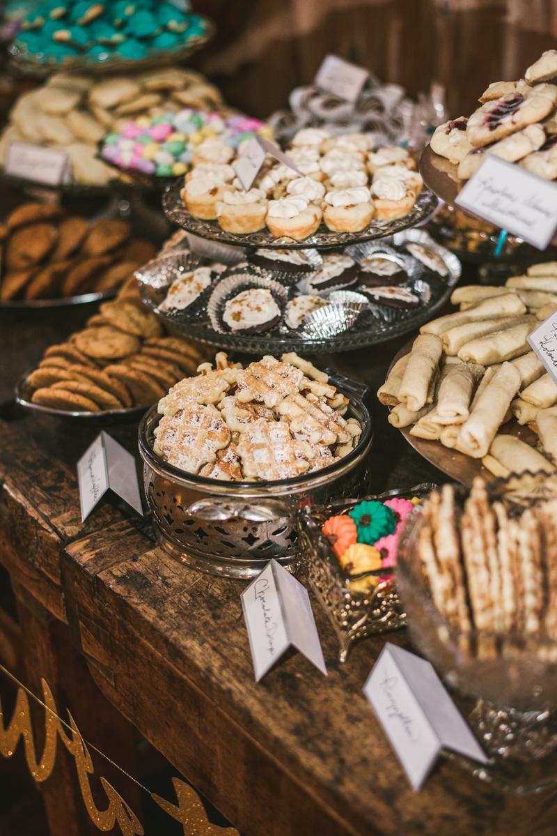 Chanteclaire Farm Wedding Photographer Friendsville Maryland Reception Italian Cookie Table