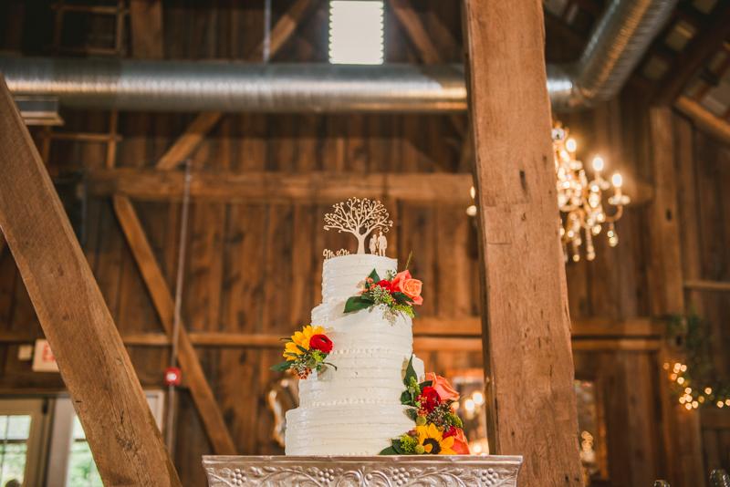 Chanteclaire Farm Wedding Photographer Friendsville Maryland Reception Cake