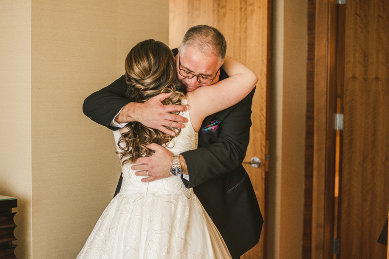 Wedding Photographers in Maryland Mt Washington Mill Dye House Baltimore Four Seasons Father Daughter First Look