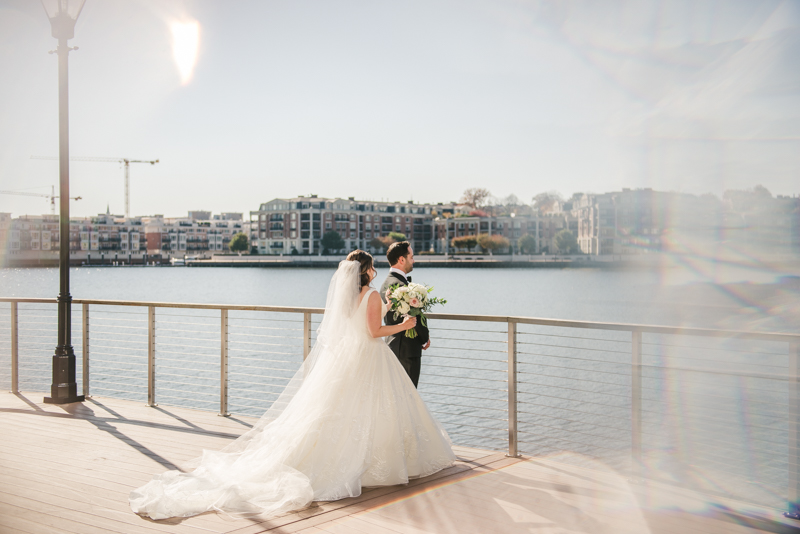 Wedding Photographers in Maryland Mt Washington Mill Dye House Baltimore Four Seasons First Look Inner Harbor