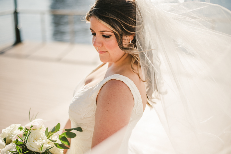 Wedding Photographers in Maryland Mt Washington Mill Dye House Baltimore Four Seasons Bride Portrait Inner Harbor