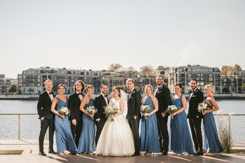 Wedding Photographers in Maryland Mt Washington Mill Dye House Baltimore Four Seasons Inner Harbor Bridal Party