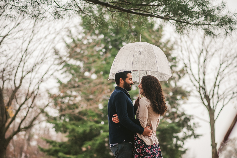 Kinder Farm Engagement Session Maryland Wedding Photographer Rain