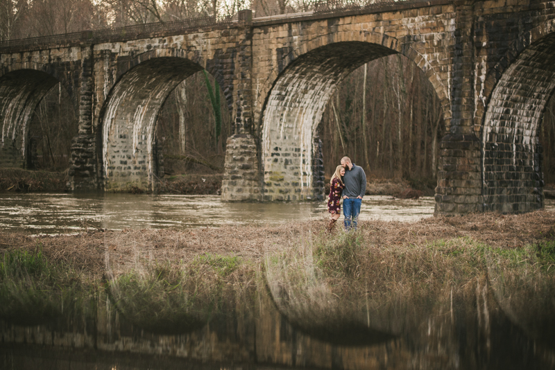 Wedding Photographers in Maryland Patapsco Valley Park Baltimore Engagement Session Avalon River Road Entrance Thomas Viaduct