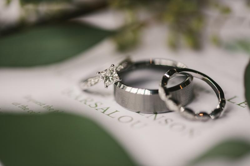 Wedding Photographers in Maryland Main Street Ballroom Ellicott City Invitation Suite Blonde and Brindle Ring