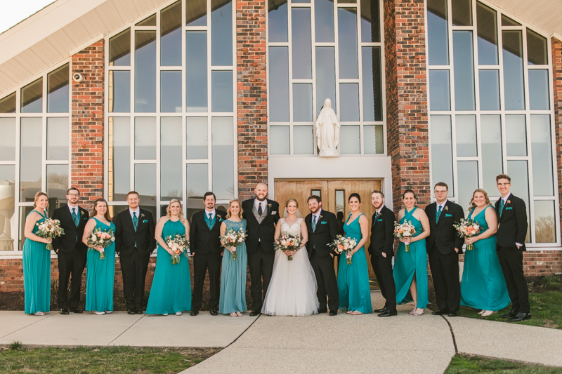 A gorgeous Spring wedding at Our Lady of the Fields Church in Millersville, Maryland photographed by Britney Clause Photography a wedding photographer in Maryland